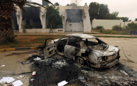 FILE: A suicide bomber rammed a car laden with explosives into a big security checkpoint. Picture: AFP.