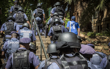 Rhodes University's Sizwe Mabizela says they have had to rely on Saps to control the situation on campus. Pictures: Reinart Toerein/EWN