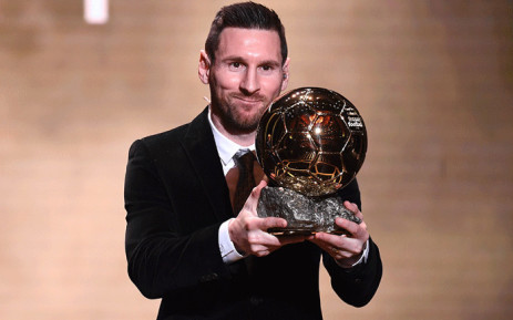 Barcelona's Argentinian forward Lionel Messi reacts after winning the Ballon d'Or France Football 2019 trophy at the Chatelet Theatre in Paris on December 2, 2019. Picture: AFP.
