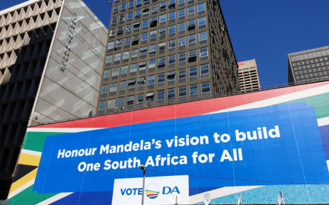 The DA on 26 April 2019 launched a new billboard in the Johannesburg CBD less than two weeks before the general elections. Picture: @Our_DA/Twitter
