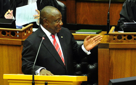President Cyril Ramaphosa replies to questions in the National Assembly, in Cape Town. Picture: GCIS.