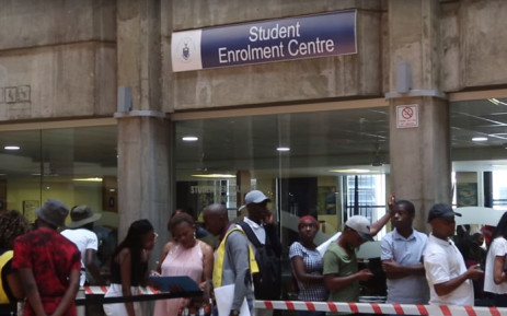 FILE: Prospective students at Wits University on 9 January 2018. Picture: EWN