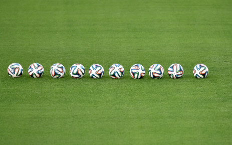 FILE:Adidas Brazil 2014 official soccerballs. Picture: AFP.