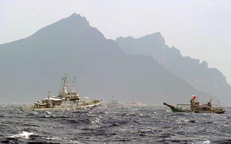 Disputed islands. Picture: AFP