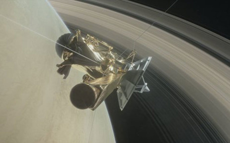 The countdown to Cassini's grand finale with daring dives between Saturn & its rings. Picture: Twitter/@CassiniSaturn.