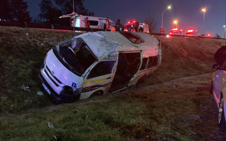 An accident on the M1 North at Glenhove Rd in Houghton has killed one person. Picture: @AsktheChiefJMPD/Twitter.