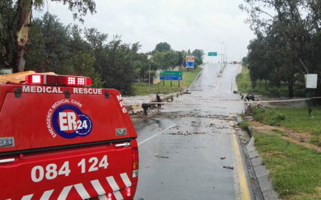 FILE: Flash floods in Johannesburg. Picture: @ER24EMS/Twitter