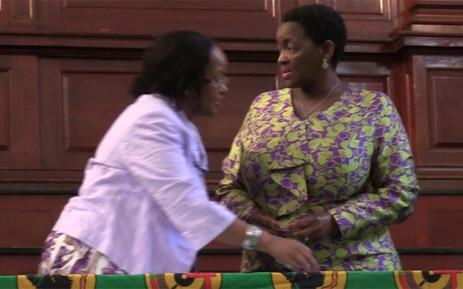 ANC women's league President Bathabile Dlamini addresseS several women's groups in Johannesburg. Picture: Kgothatso Mogale/EWN