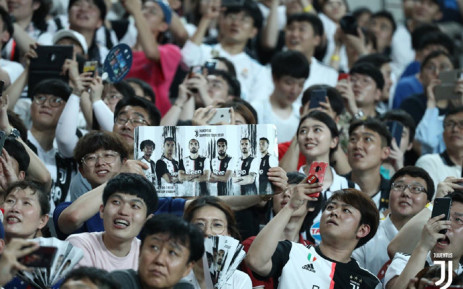 South Korean football fans at a match between the K-League All Stars and Juventus in Seoul on 26 July 2019. Picture: @juventusfcen/Twitter
