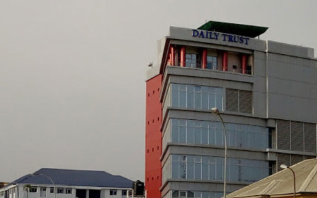 The 'Daily Trust' newspaper office. Picture: Google Earth.