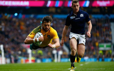 Scotland vs Australia in the Rugby World Cup on 18 October 2015. Picture: Rugby World Cup.