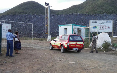 FILE: One of the mine rescue vehicles seen entering the Lily Mine in Mpumalanga. Picture: Kgothatso Mogale/EWN.