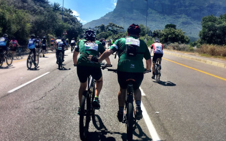 Cape Town Cycle Tour's participants on 11 March 2018. Picture: @CTCycleTour/Twitter.