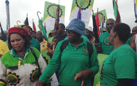 FILE: Association of Mineworkers and Construction Union (Amcu) members during a wage dispute strike. Picture: Mia Lindique/EWN