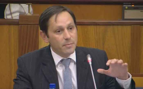 A screengrab of Steinhoff's former chief financial officer, Ben la Grange, testifying in Parliament. Picture: YouTube