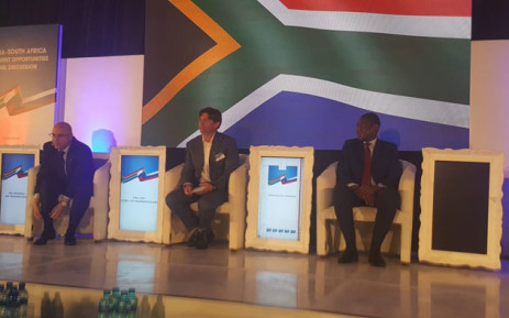 ANC Treasurer-General Paul Mashatile (right) takes part in a Russia-South Africa Investment Opportunities Panel Discussion in Rosebank, Johannesburg. Picture: @MYANC/Twitter