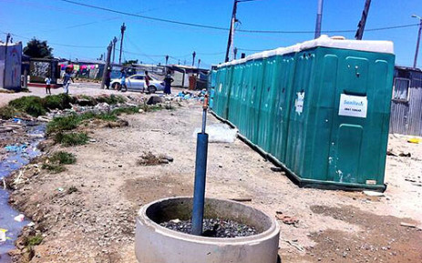 Communal toilets in the Kosovo informal Settlement in Cape Town. Picture: Siyabonga Sesant/EWN
