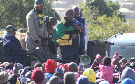 ANC president Cyril Ramaphosa launches the Thuma Mina campaign in Tembisa on 18 May 2018 ahead of the 2019 general elections. Picture: @MYANC/Twitter