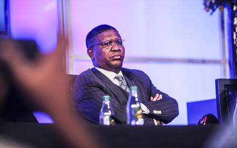 FILE: Sports Minister Fikile Mbalula speaks at the announcement of the new Springbok coach in Johannesburg on 12 April 2016. Picture: Reinart Toerien/EWN.