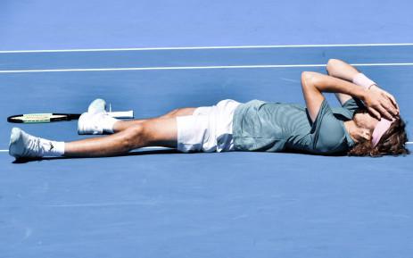 Stefanos Tsitsipas goes through to the Australian Open semifinal after sweeping past Spain's Roberto Bautista Agut. Picture: @AustralianOpen/Twitter