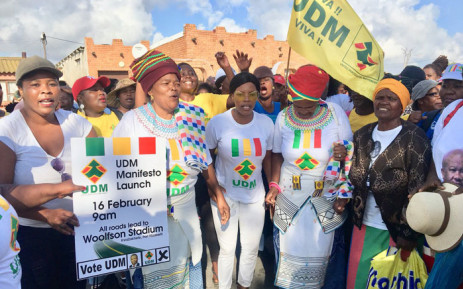 UDM supporters pictured ahead of the party's manifesto launch on 16 February 2019. Picture: @UDmRevolution/Twitter