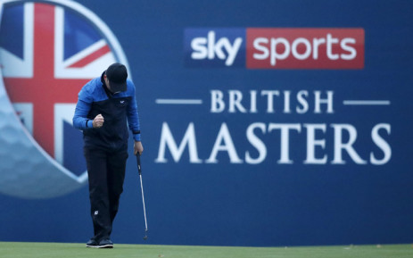 England's Eddie Pepperell reacts after winning the British Masters. Picture: @EuropeanTour/Twitter.