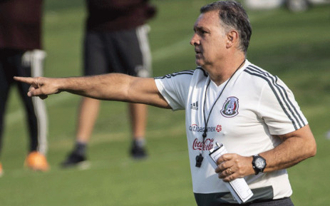 """Mexico's national football team coach, Argentinian Gerardo """"Tata"""" Martino, conducts a training session at the High-Performance Centre (CAR) in the outskirts of Mexico City, on February 11, 2019. Martino conducted his first training session with the Mexican national team. Picture: AFP."""
