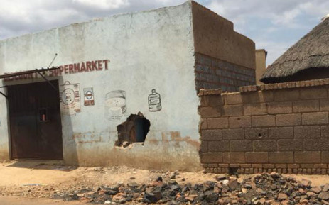 One of the foreign-owned shops that was looted in Zola, Soweto after a teenager was gunned down on Monday. Picture: Thando Kubheka/EWN.