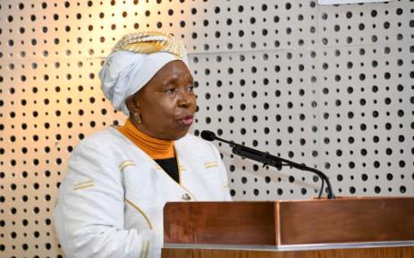 FILE: Cooperative Governance Minister Nkosazana Dlamini-Zuma. Picture: @NationalCoGTA/Twitter