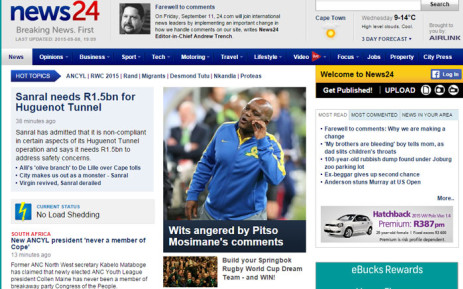 News24 shuts down comment sections on most stories
