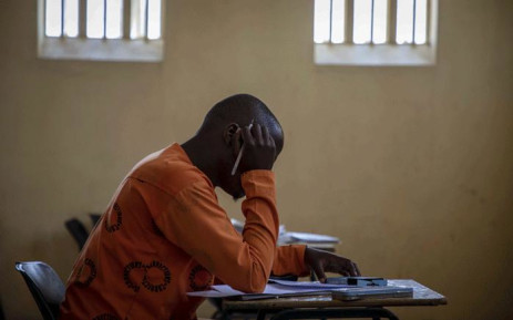 FILE: An inmate writes his exams in the exam room inside the Leeuwkop Correctional Facility. Picture: Thomas Holder/EWN