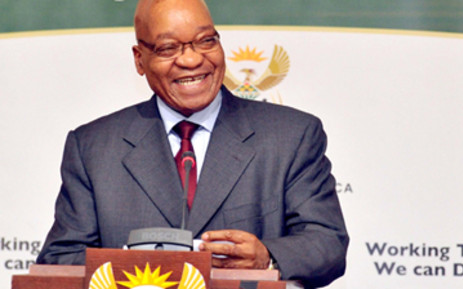 President Jacob Zuma addressing the Labour Summit on job creation. Picture: Elmond Jiyane/GCIS