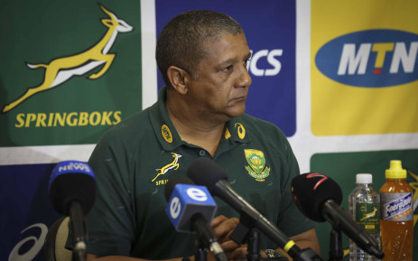 Springbok coach Allister Coetzee during a press conference. Picture: Cindy Archillies/EWN