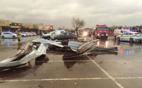 A tornado has swept through parts of the East Rand, leaving a number of people injured. Picture: ER24.