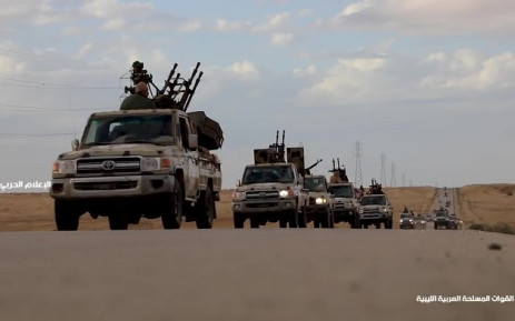 FILE: Military convoys heading towards western Libya and Tripoli, coming from the LNA-controlled territory in the east. Picture: AFP