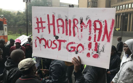 FILE: Jozi@Work employees protesting outside the Johannesburg mayor's office. Picture: EWN.