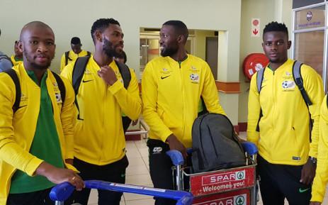 Bafana Bafana players arrive in Port Elizabeth on 8 October 2019 for their Nelson Mandela Challenge match against Mali on 13 October 2019. Picture: @BafanaBafana/Twitter