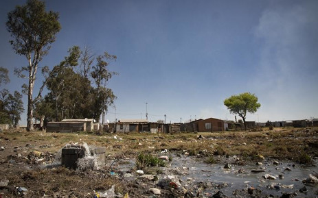 Raw sewage at a settlement in Boipatong in the Vaal area. Picture: Sethembiso Zulu/EWN