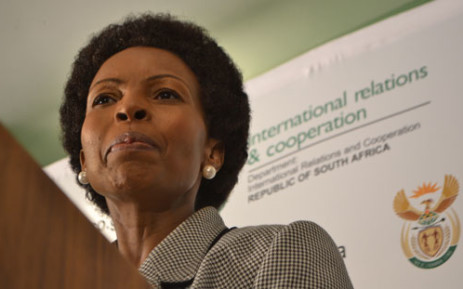 Minister of International Relations, Maite Nkoana-Mashabane. Picture: Sapa.