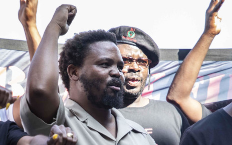FILE: Black First Land First Leader Andile Mngxitama and members of his party arrive at the IEC head offices in Centurion. Picture: Abigail Javier/EWN