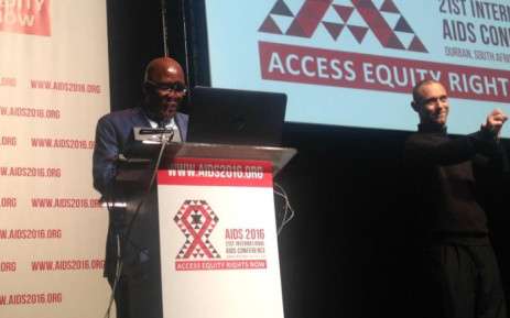Health Minister Aaron Motsoaledi hanked world leaders and organisations for attending the International Aids Conference. Picture: Masego Rahlaga/EWN.