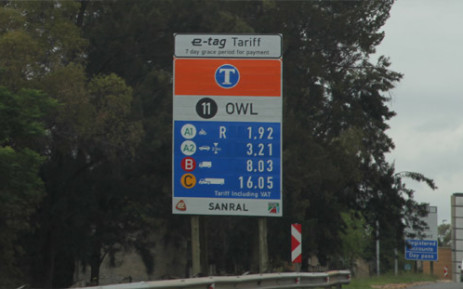 The controversial e-tolling system went live on 3 December after months of legal wranglings, protests and calls for civil disobedience. Picture: Christa Eybers/EWN.