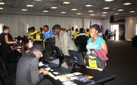 Cope delegates register on 9 January prior to the start of the party's national congress. Picture: Facebook.com.
