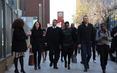 FILE: Sanef members and other media heading to the High Court in Johannesburg on 6 July, 2017. Picture: Christa Eybers/EWN