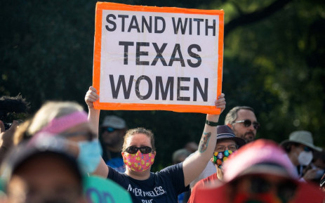 In this file photo taken on 2 October 2021 demonstrators rally against anti-abortion and voter suppression laws at the Texas State Capitol in Austin, Texas. Picture: AFP