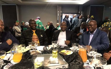 Former President Jacob Zuma at a breakfast with the ANC Veteran's League from the eThekwini region. Picture: Ziyanda Ngcobo/EWN