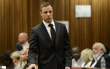 Oscar Pistorius arrives at the High Court in Pretoria on 21 October 2014. Picture: Pool.