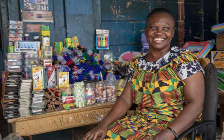 A market trader in Ghana. Picture: Primedia