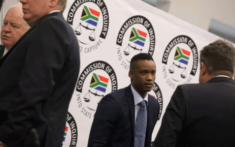 Duduzane Zuma at the Zondo Commission of Inquiry into State Capture on 10 October 2019. Picture: Kayleen Morgan/EWN.