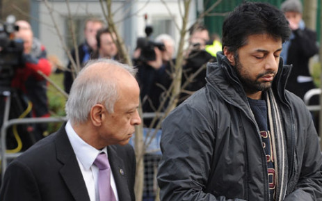 British businessman Shrien Dewani (right) at Belmarsh Magistrates Court, in south-east London, on February 24, 2011. Picture: AFP.